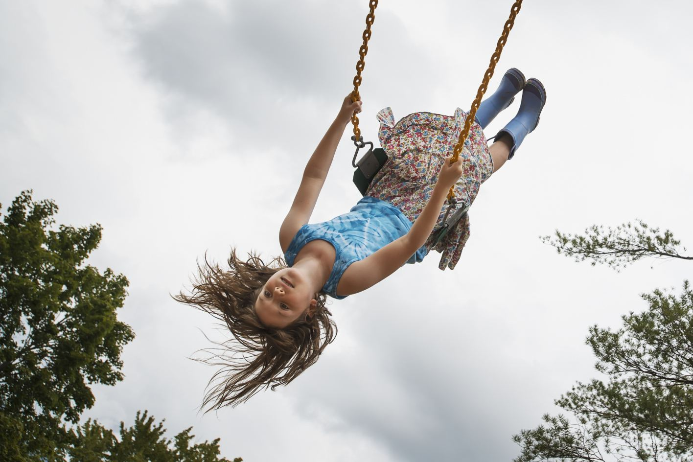 poem about swinging to share with grandchildren