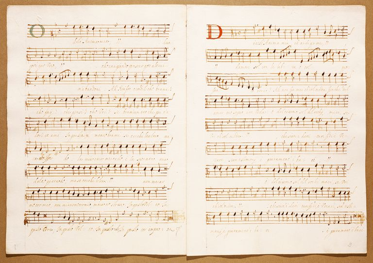 Madrigals 1606, by Giulio Cesare Antonelli, autograph music score.