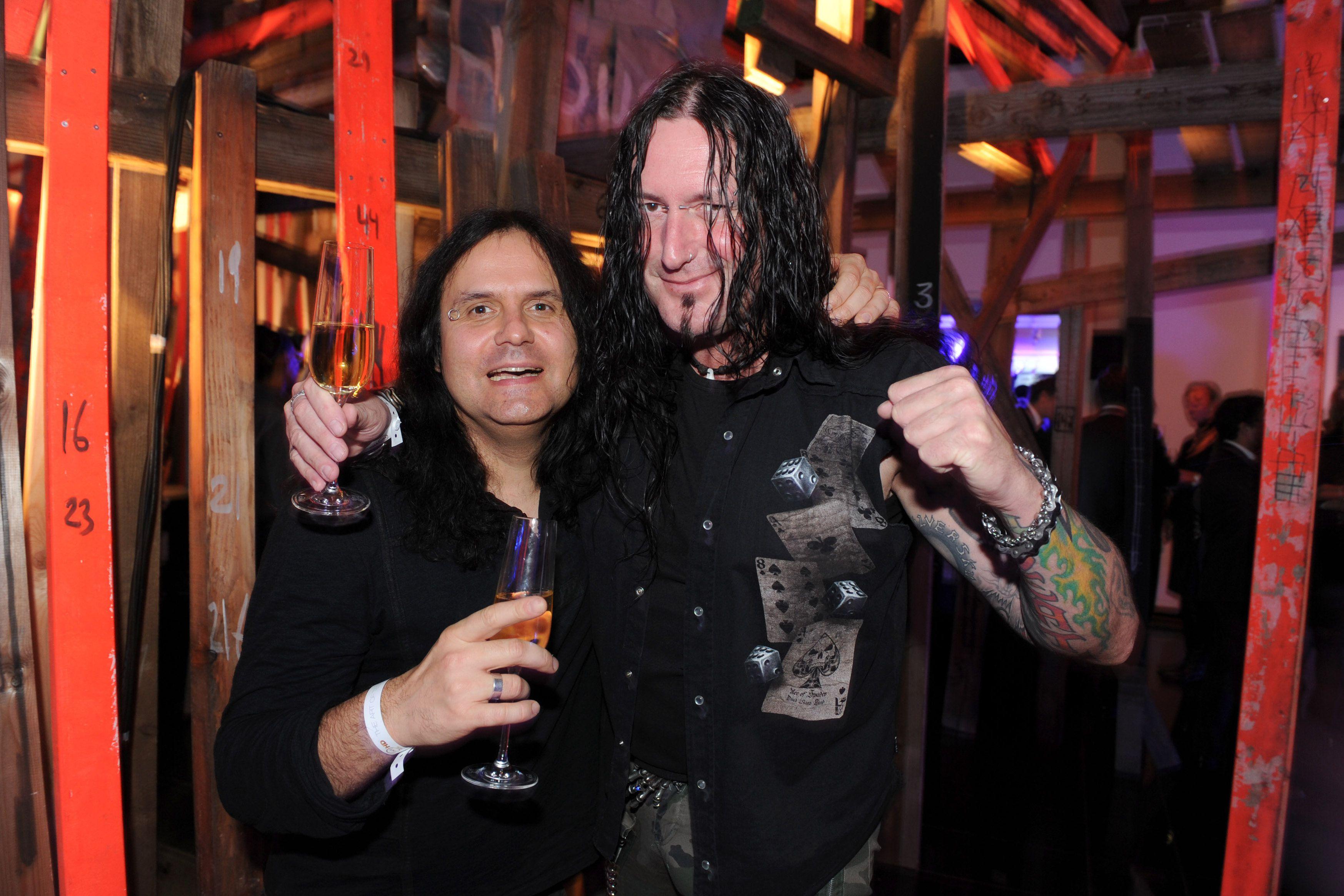 Musician Schmier of Destruction and musician Mille Petrozza of Kreator