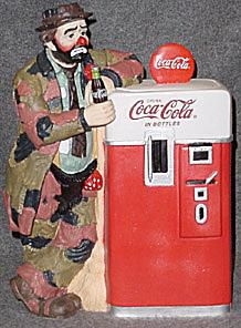 Emmett Kelly Coca-Cola Jar