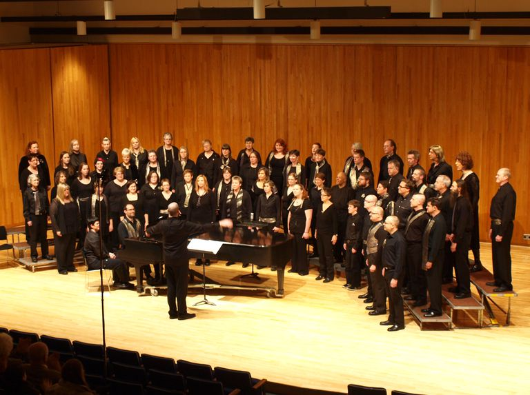 Mixed chorus performing