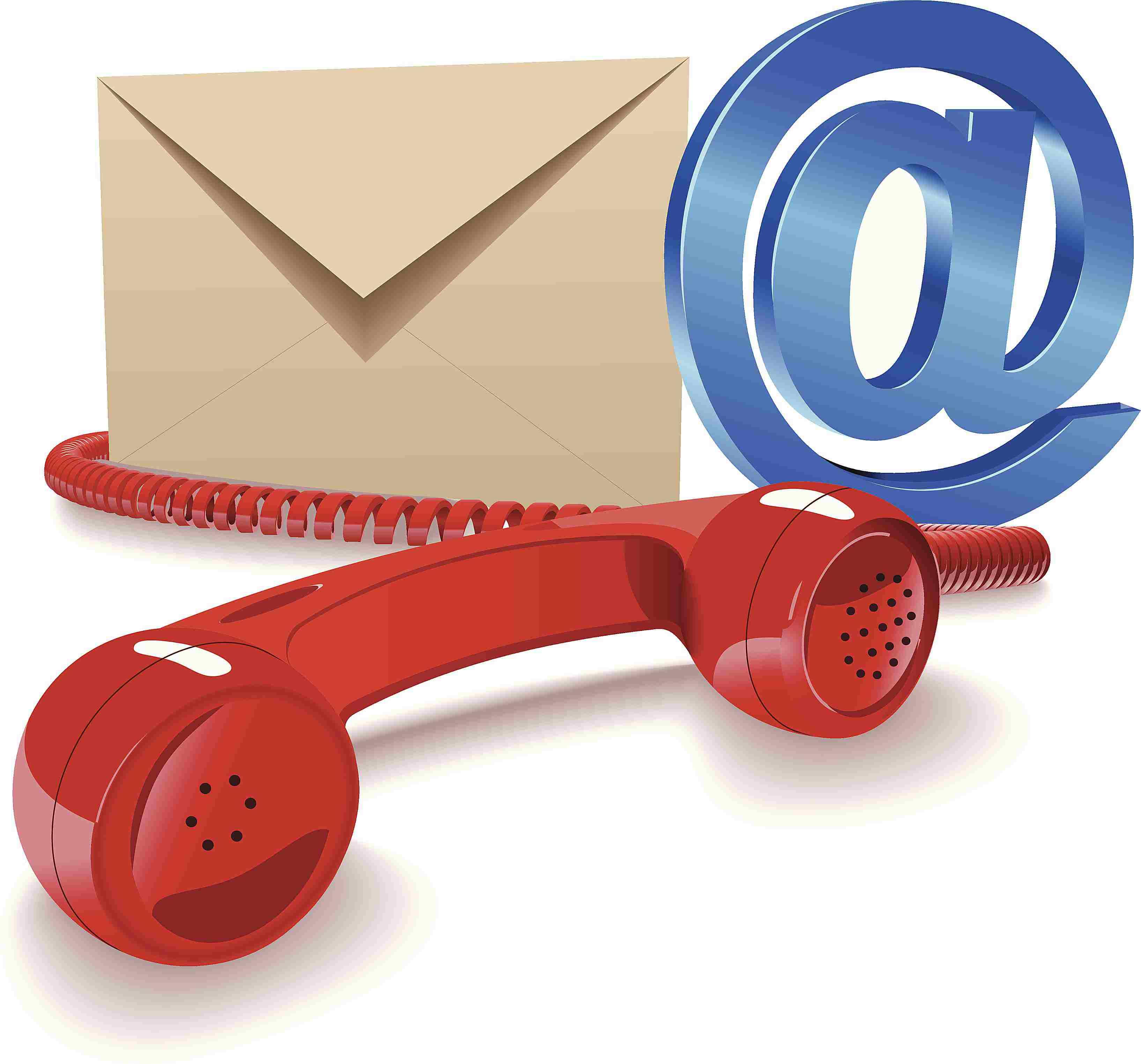 Representation of Phone, Email, Etc.
