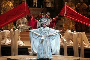The Swedish soprano Erika Sunnegardh as the title character in Puccini's 'Turandot' at the Metropolitan Opera House on Saturday night, April 21, 2007. Within the opera's 3rd act, you'll hear one of the most famous arias of all time,