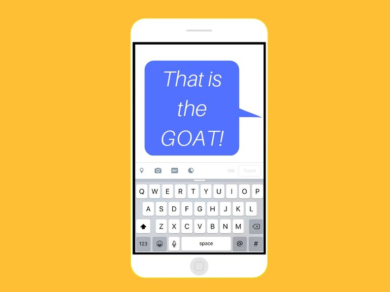 An image graphic of a text message on a smartphone.