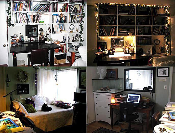 Photo of collage artist studio