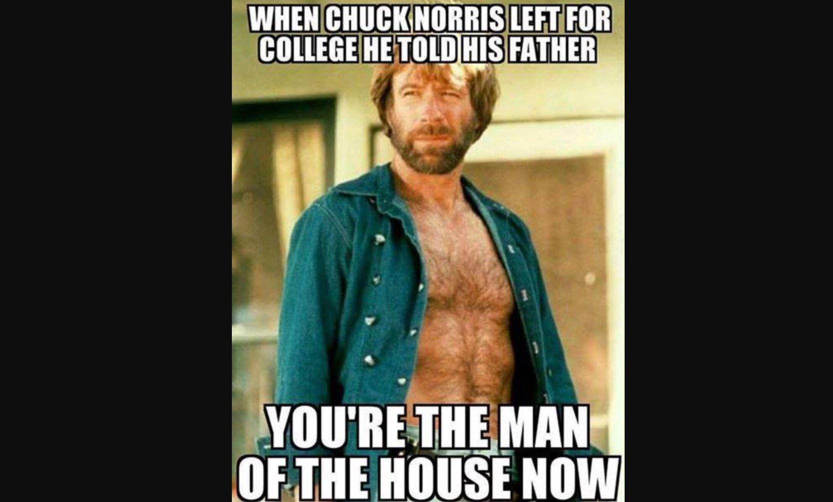 chuck norris college meme