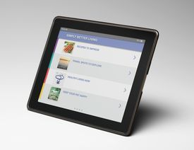 Photo of a tablet computer, illustrating About.com's iPad Sweepstakes List.