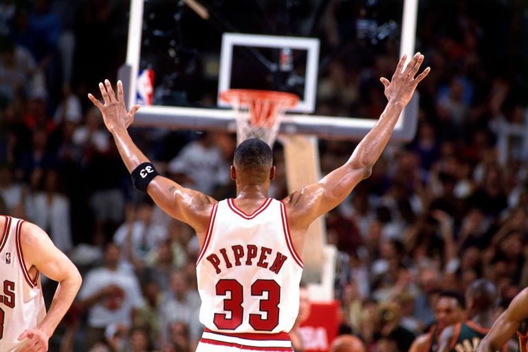 Scottie Pippen in the 1996 NBA Finals Game 6