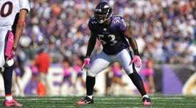 Ray Lewis against the Denver Broncos
