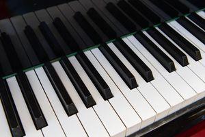 Piano keyboard.