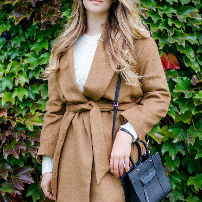 Wrap Coat and jeans outfit