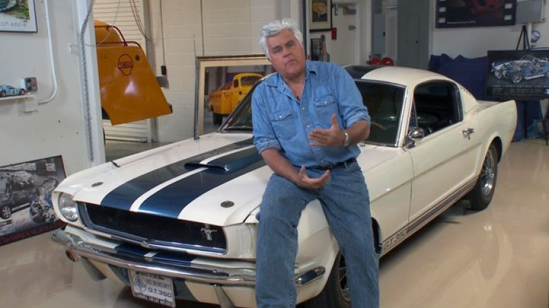 Jay Leno's Garage with his Shelby GT350 Mustang