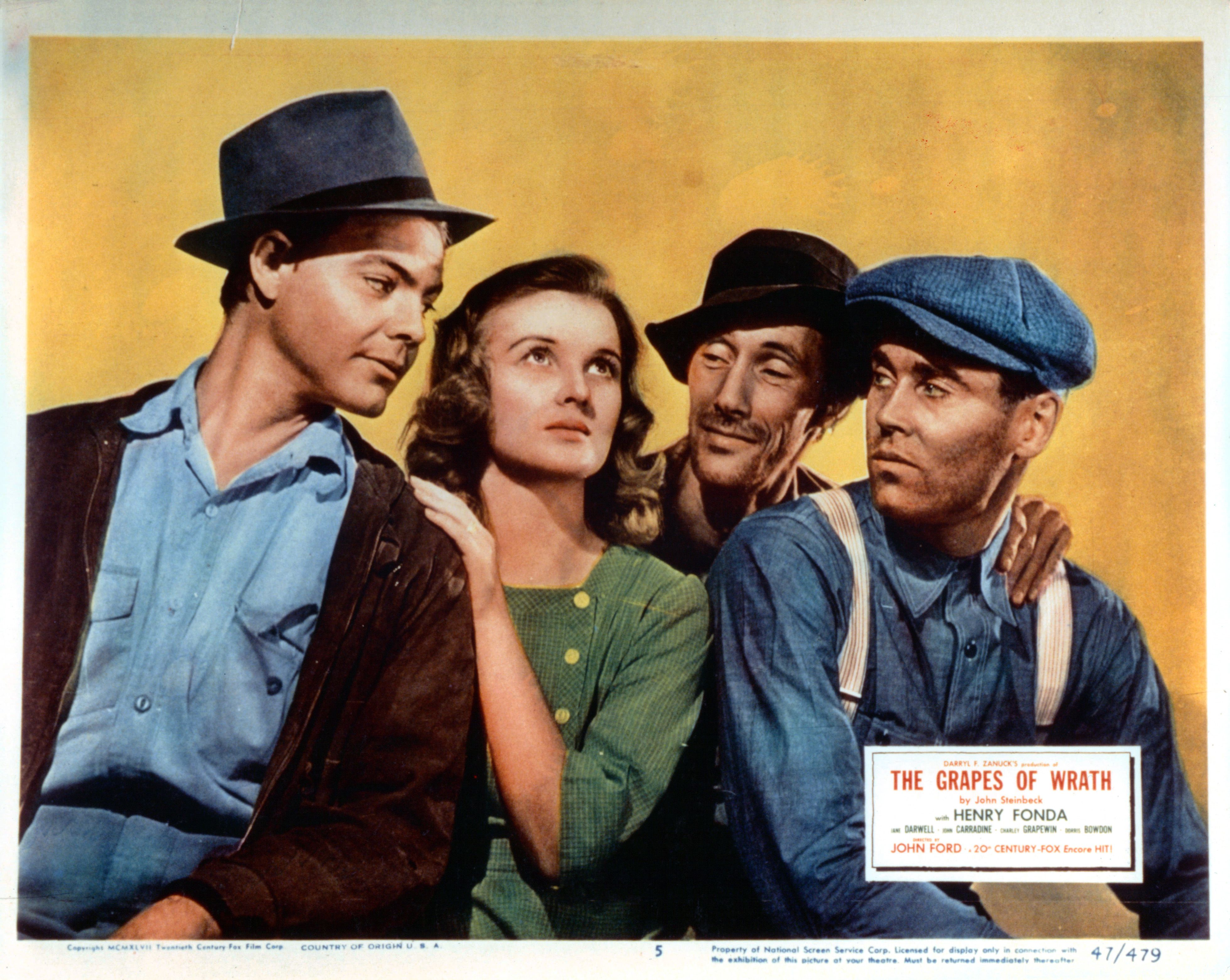 John Carradine And Henry Fonda In 'The Grapes Of Wrath'
