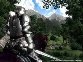 Armored character from The Elder Scrolls IV: Oblivion