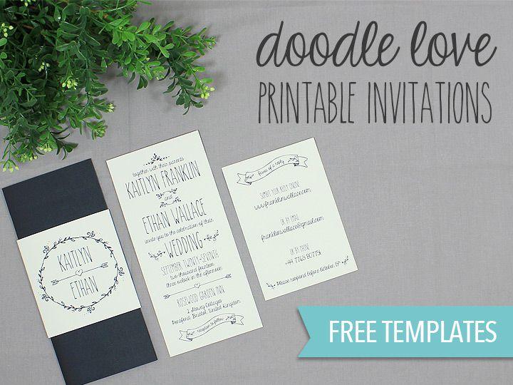 A wedding invitation template suite