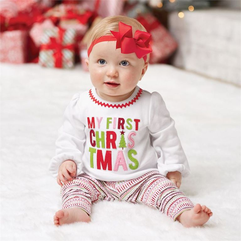 8a4894e8f9c Mud Pie My First Christmas Sentiment Two-Piece Set