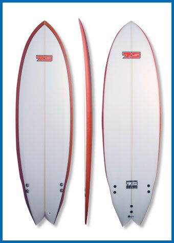 Superfish surfboard product shot