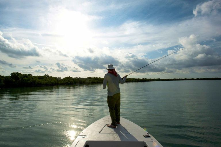 Fishing in a Florida bay