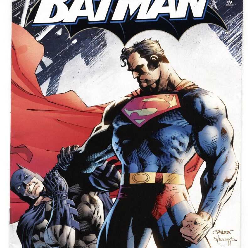 """Cover art from """"Batman issue 612"""" showing Superman and Batman."""