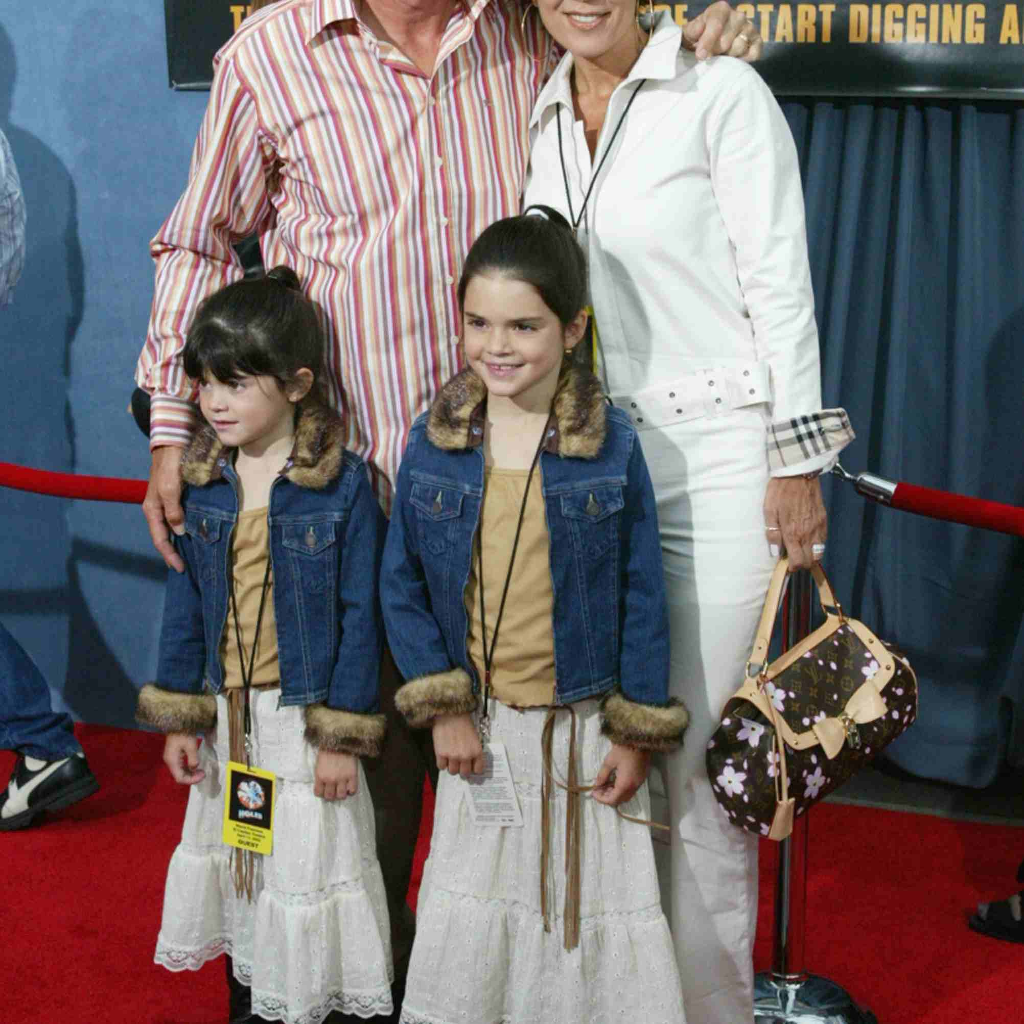 Jenner and family in 2003