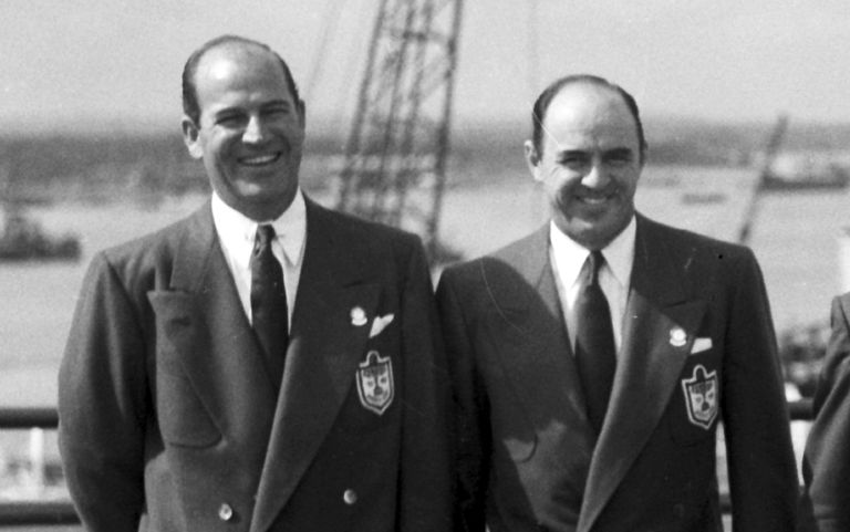 Bob Hamilton and Sam Snead, members of the 1949 US Ryder Cup team