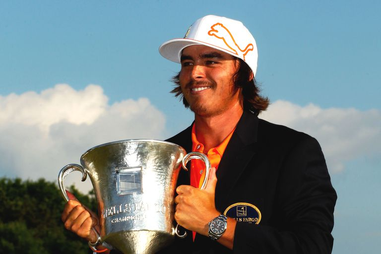 Rickie Fowler after winning the 2012 Wells Fargo Championship
