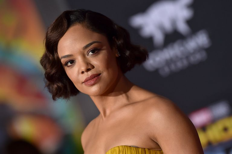 Actress Tessa Thompson with a wavy bob