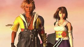 Tidus and Yuna stand side by side in FFX HD Remaster on PS4.