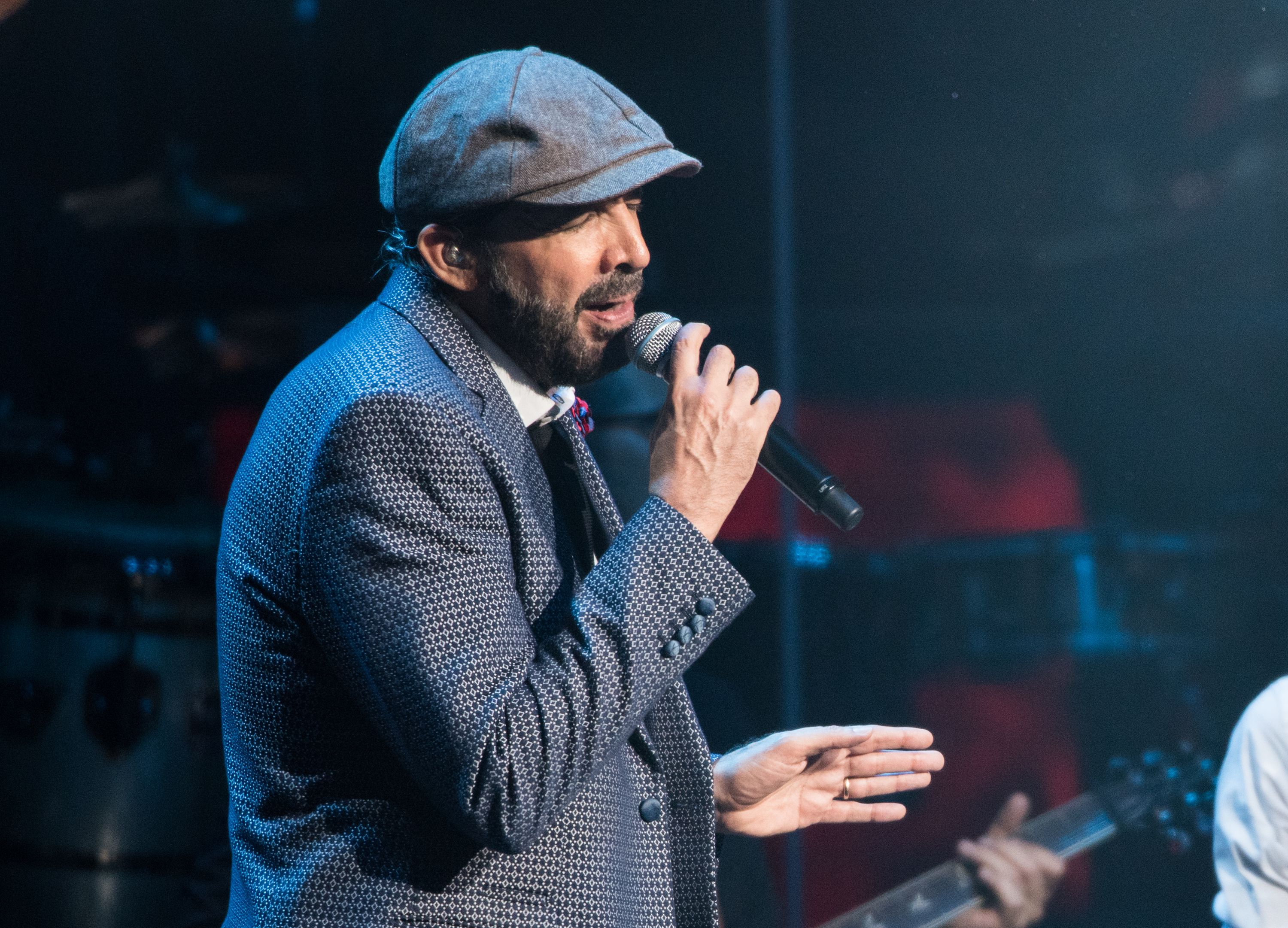 Juan Luis Guerra performs in concert at Radio City Music Hall on August 26, 2016