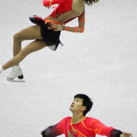 Chinese Pair Skaters Dan Zhang and Hao Zhang