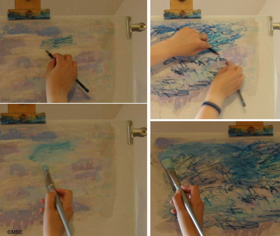 Fabric Painting Demo Using Inktense Watersoluble Ink Pencils