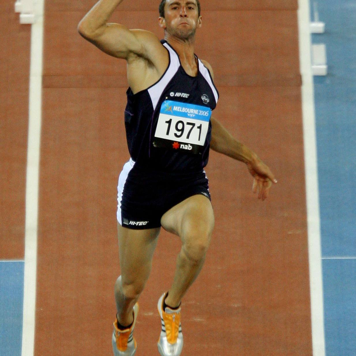Darren Ritchie of Scotland competes during the men's Long Jump final