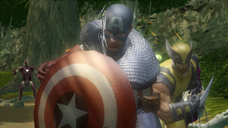 Captain America and Wolverine in Marvel: Ultimate Alliance 2