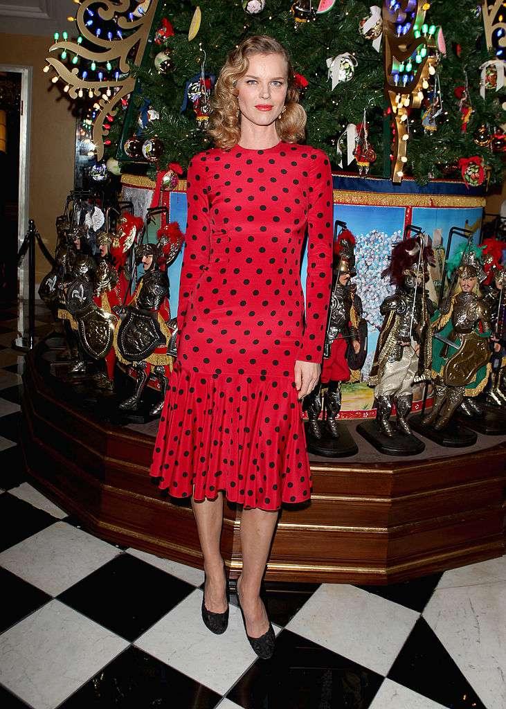 Eva Herzigova attends Claridge's Christmas Tree By Dolce & Gabbana launch party at Claridge's Hotel on November 26, 2013