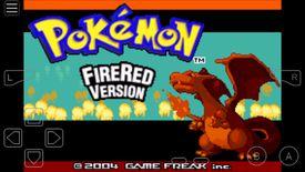 Pokemon Fire Red in the My Boy Emulator