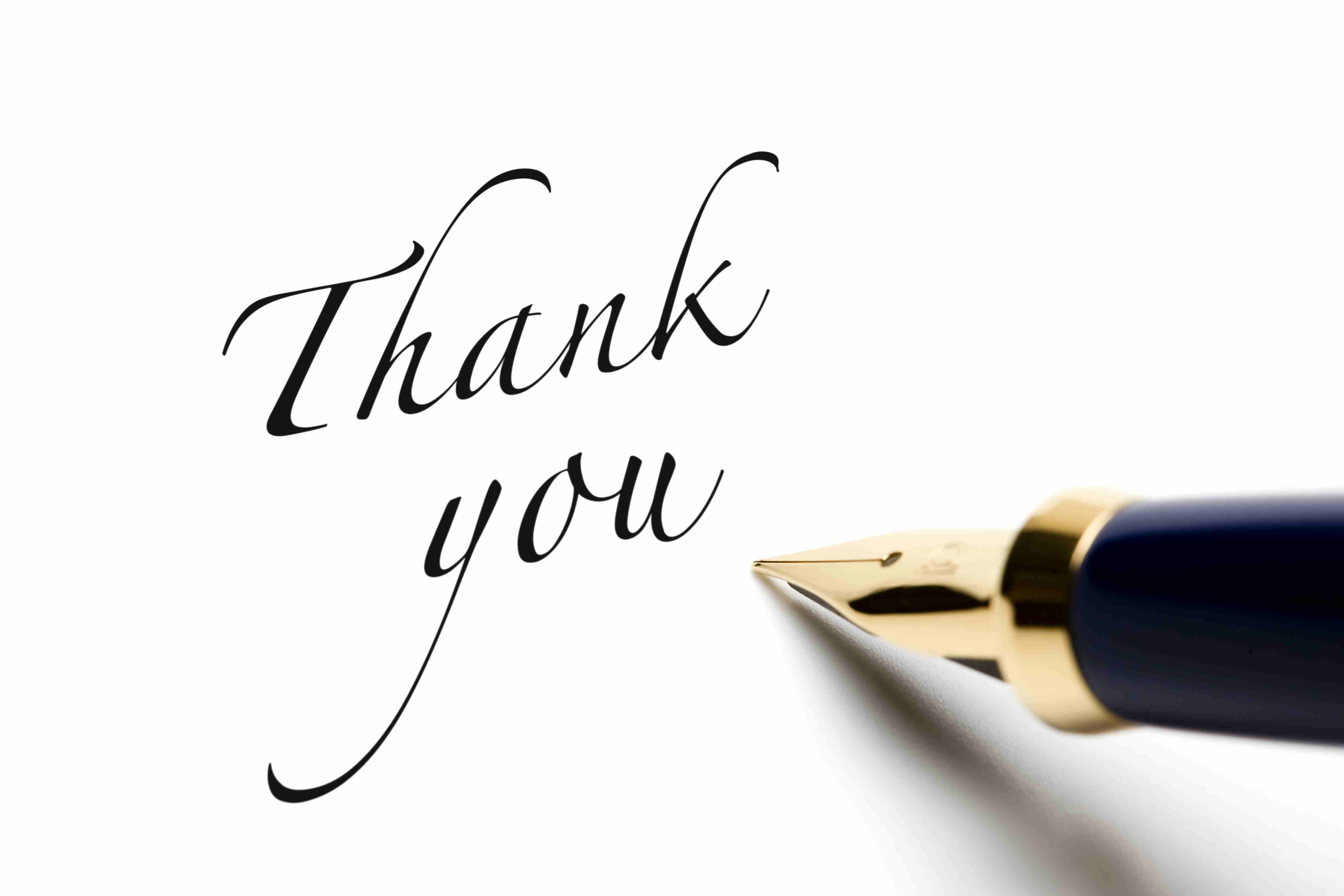Image of a thank you letter