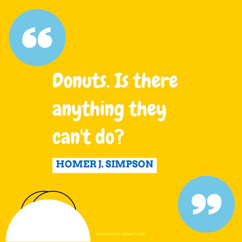 Homer Simpson quote about donuts