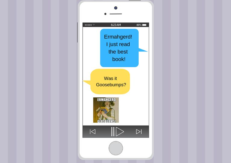"Using ""Ermahgerd"" in a text message"