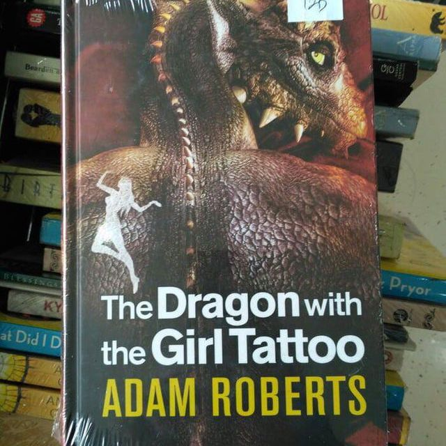knock off book cover: Dragon with Girl Tattoo