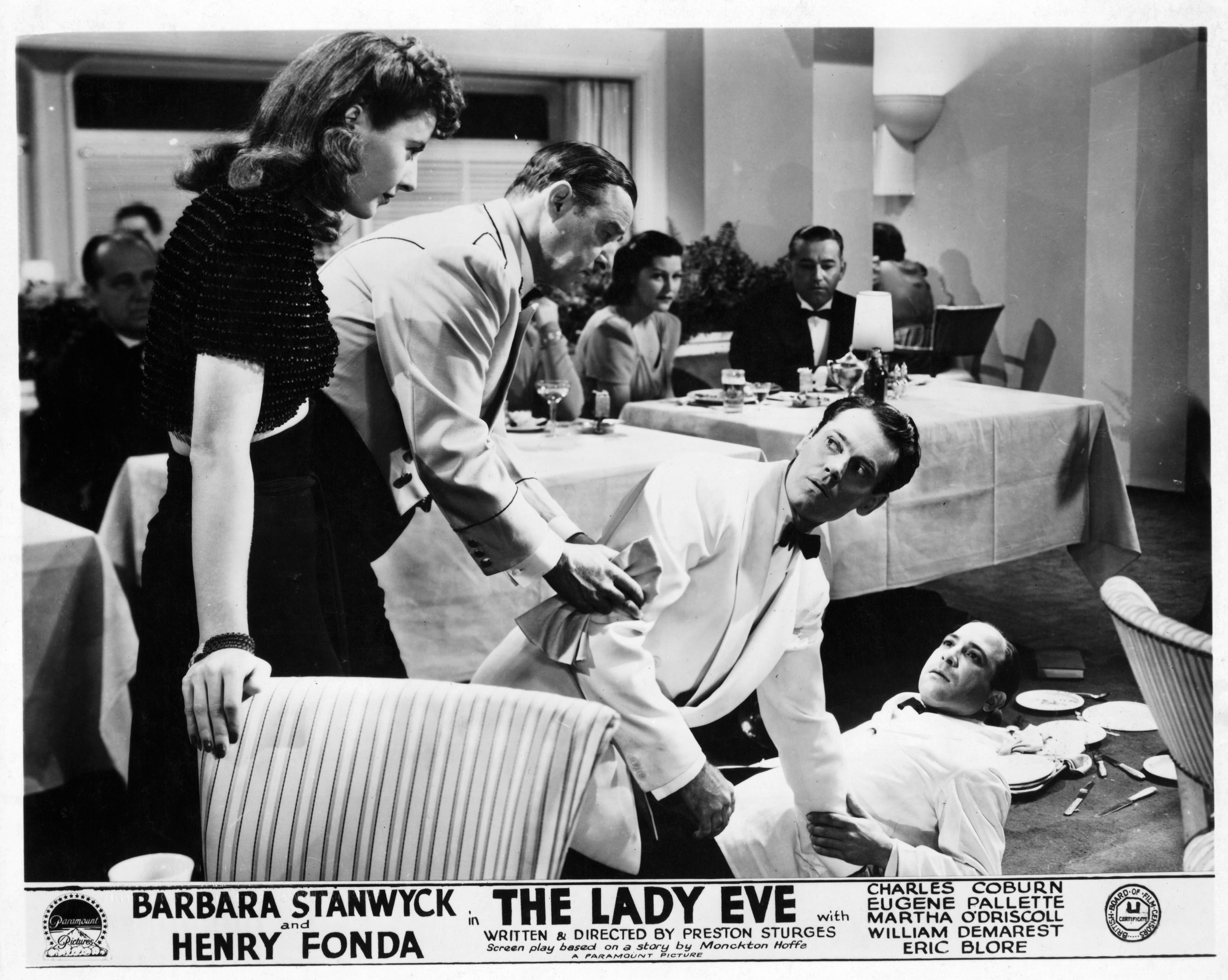 Barbara Stanwyck And Henry Fonda In 'The Lady Eve'