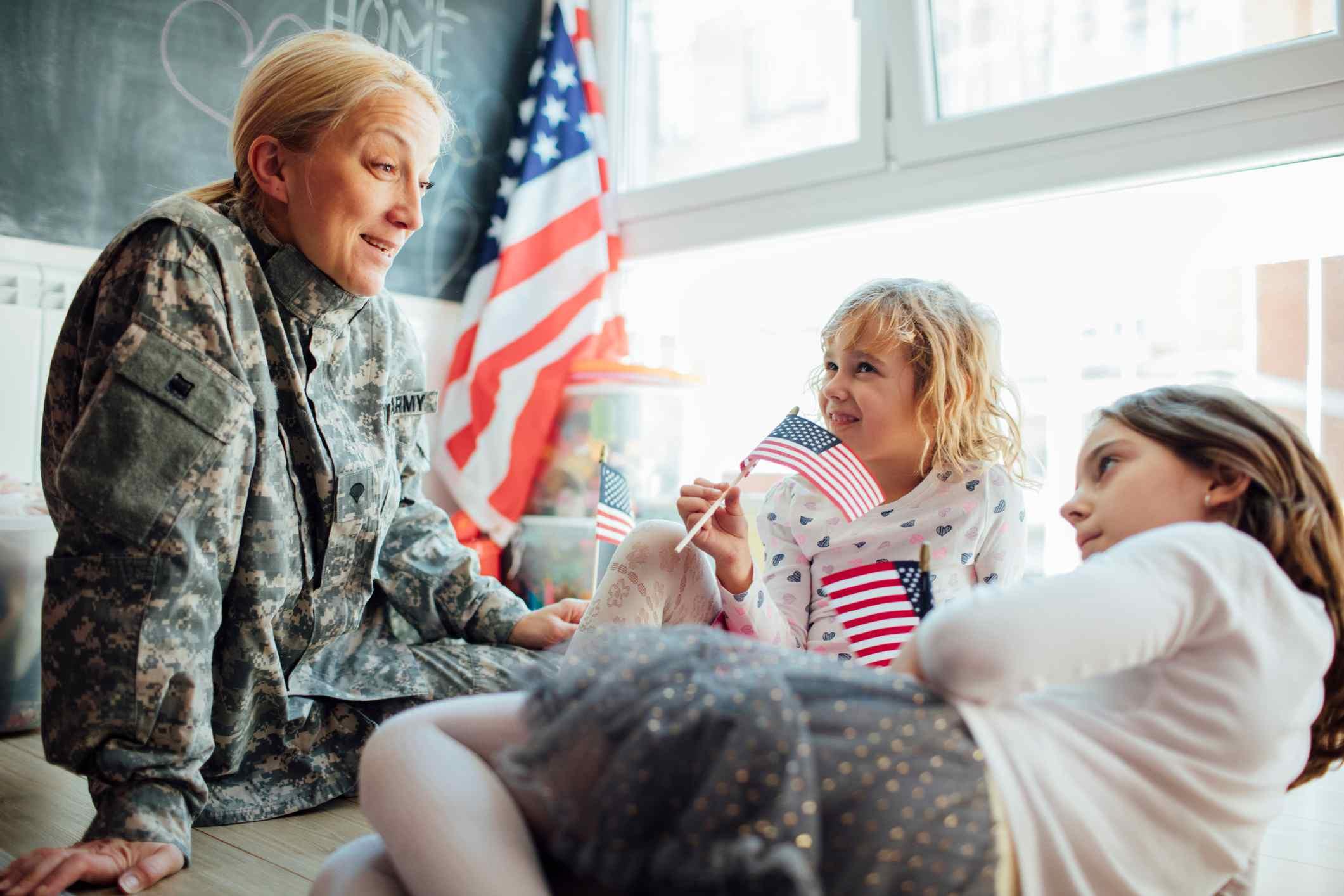 A Soldier Teaches Children