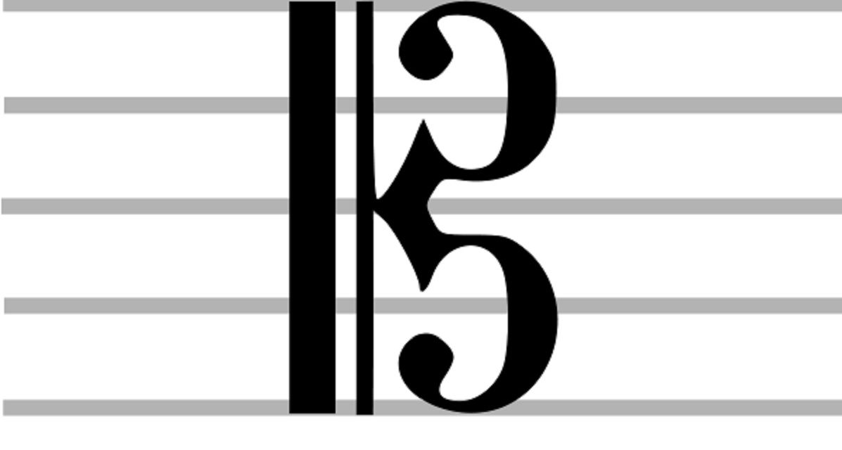 Alto clef on a white background.