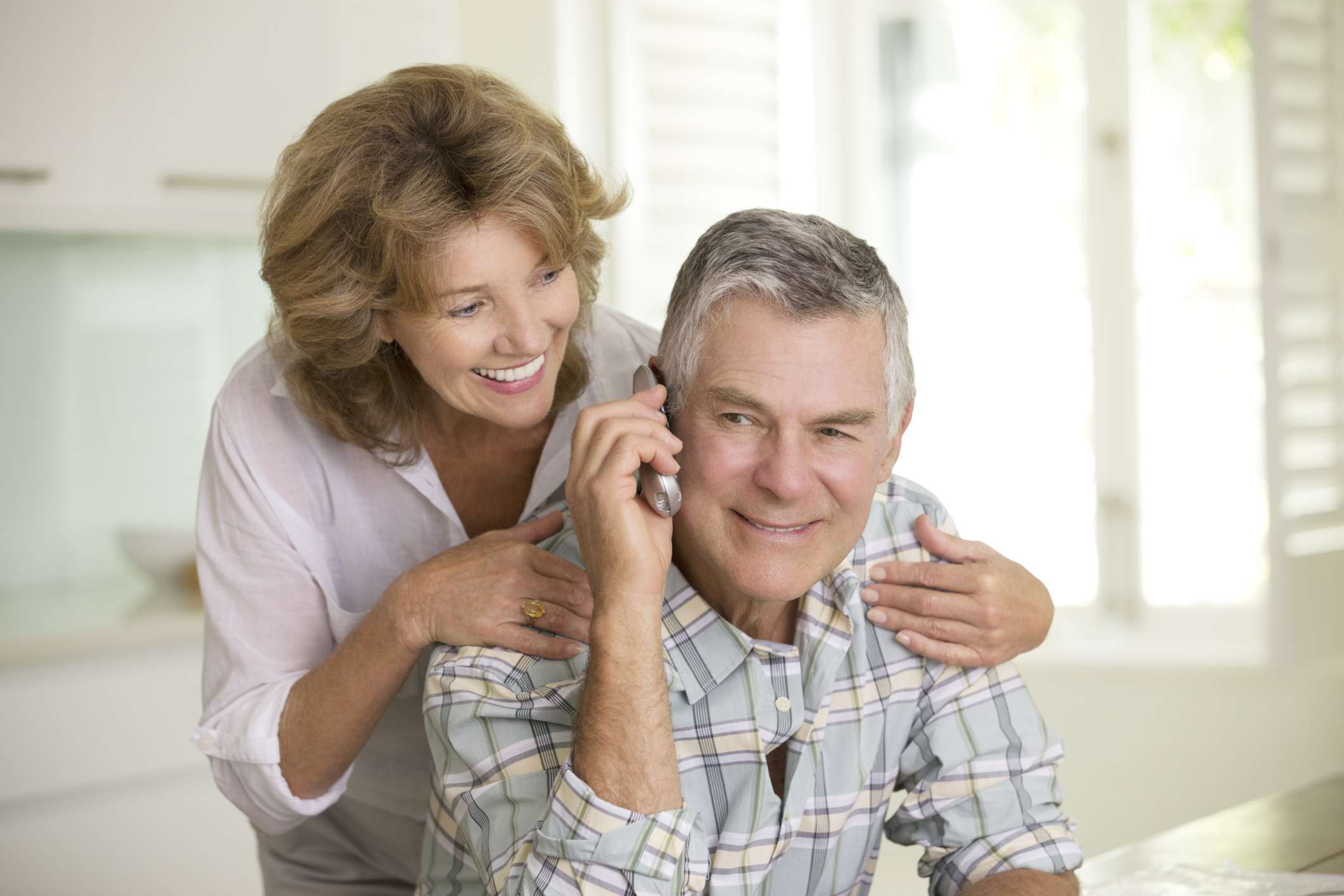Parents on the phone