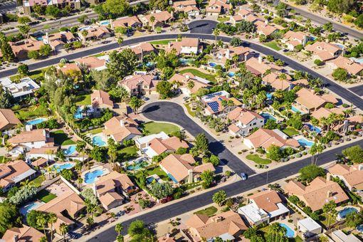 aerial view near phoenix
