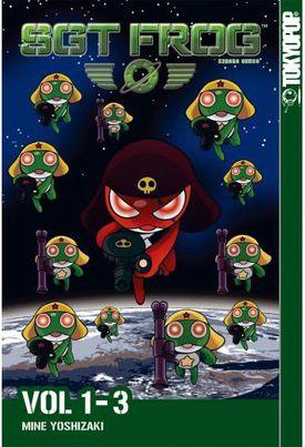 Sgt. Frog Volume 1-3 omnibus, Keroro Gunso by Mine Yoshizaki published by TokyoPop