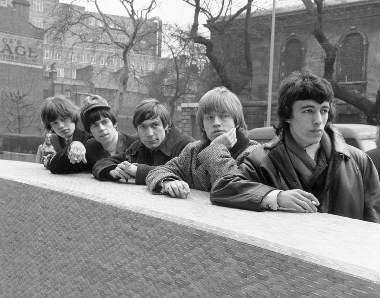 Picture of the Rolling Stones in their youth