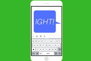 A graphic of a text message saying