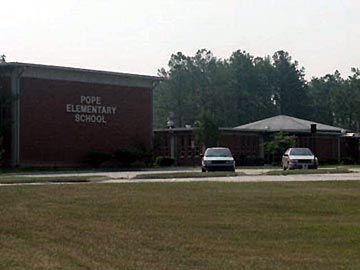 Pope Elementary, grades K-5, for children living on Base