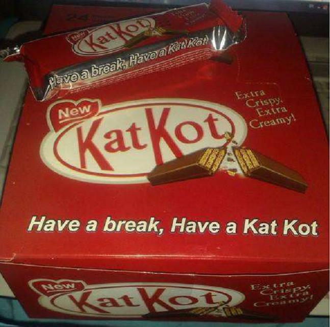 knock off Kit Kats called Kat Kot