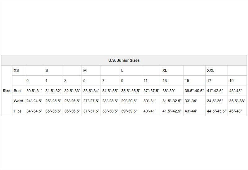 U S Women S Apparel Size Charts